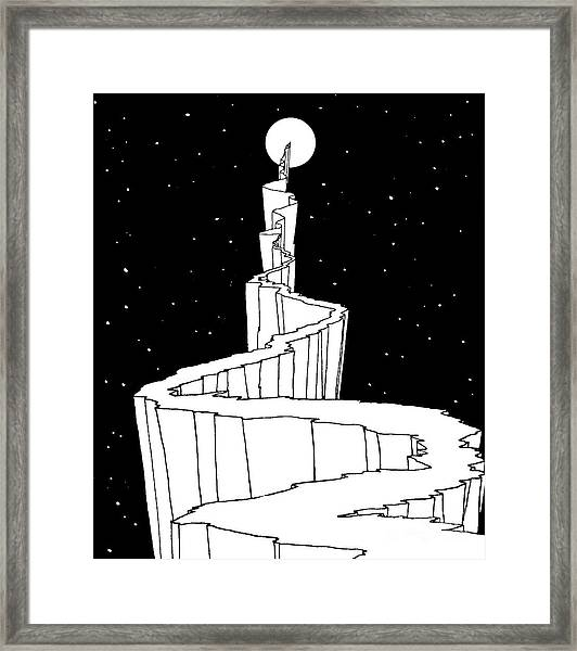 The Path To The Moon Framed Print