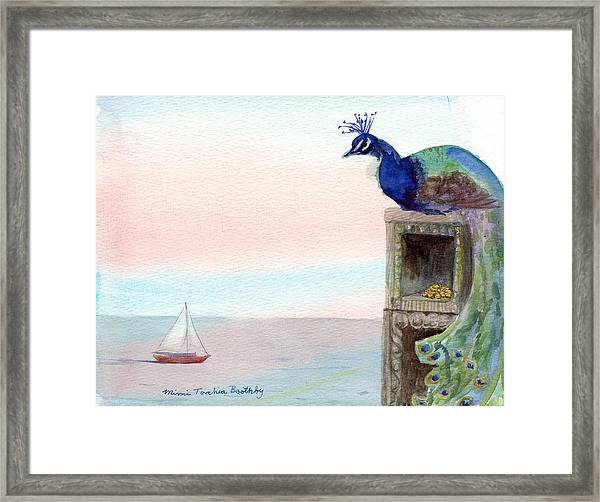 The Peacock's Lair Framed Print