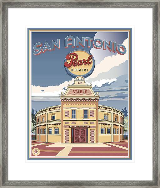 The Pearl Stable Framed Print