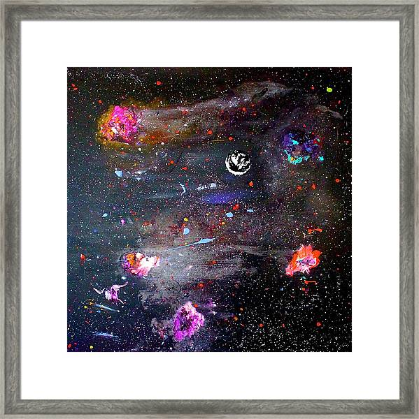 Framed Print featuring the painting The Perfect Storm by Michael Lucarelli