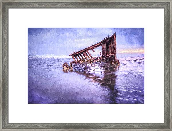 A Stormy Peter Iredale Framed Print