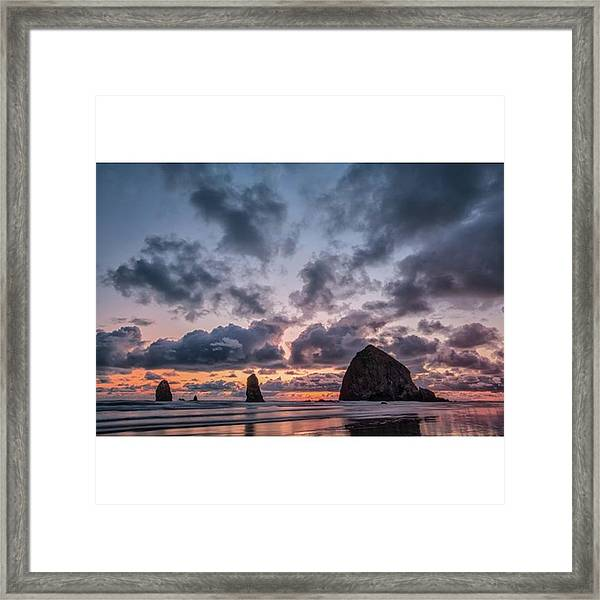 The Photogaph Was Taken Of Haystack Framed Print