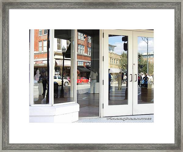 The Photographer And His Doppelganger Framed Print
