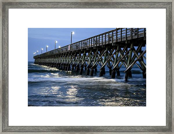 The Pier At The Break Of Dawn Framed Print