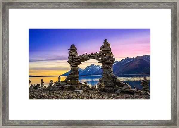 The Pillars Of The Earth Framed Print