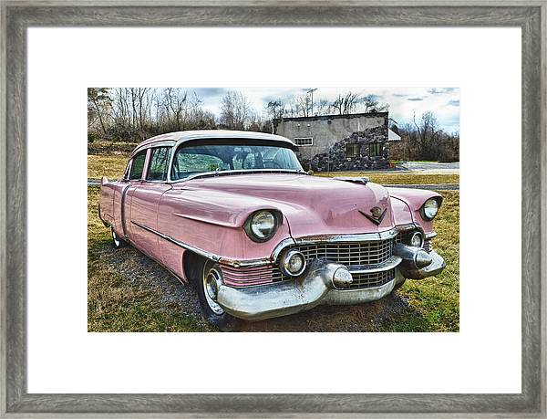 The Pink Cadillac II Framed Print by Kathy Jennings