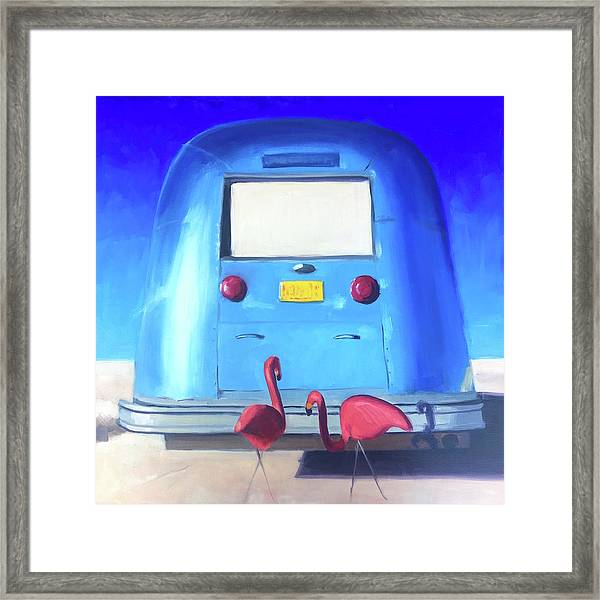 The Pink Hitchhikers Framed Print