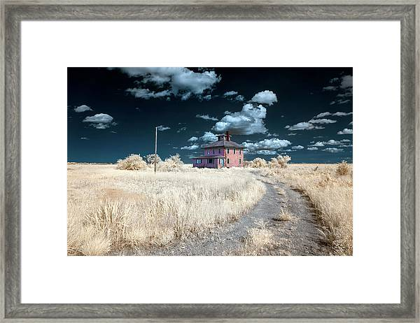 The Pink House In Halespectrum 1 Framed Print