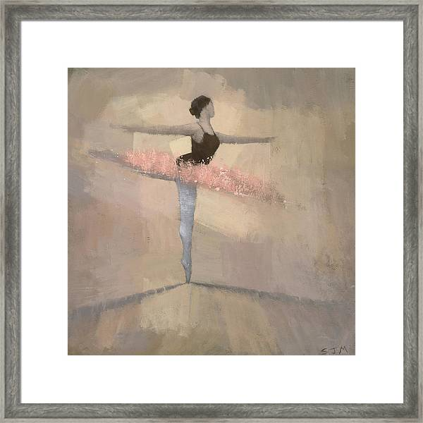 The Pink Tutu Framed Print