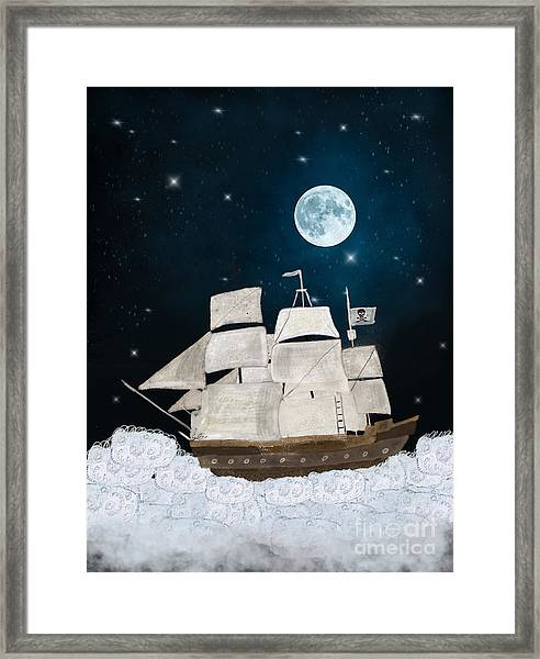 The Pirate Ghost Ship Framed Print