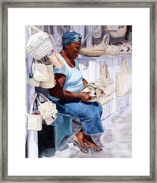 The Plait Lady Framed Print