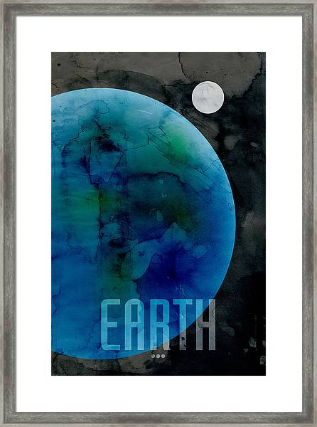 The Planet Earth Framed Print