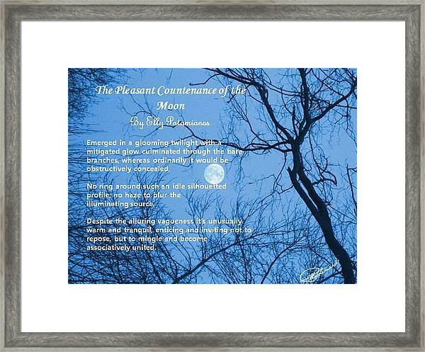 The Pleasant Countenance Of The Moon Framed Print