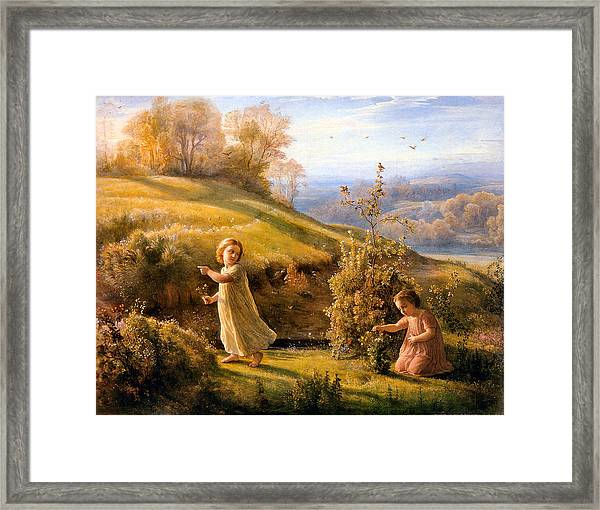 The Poem Of The Soul Spring Anne Francois Louis Janmot 1854. Framed Print