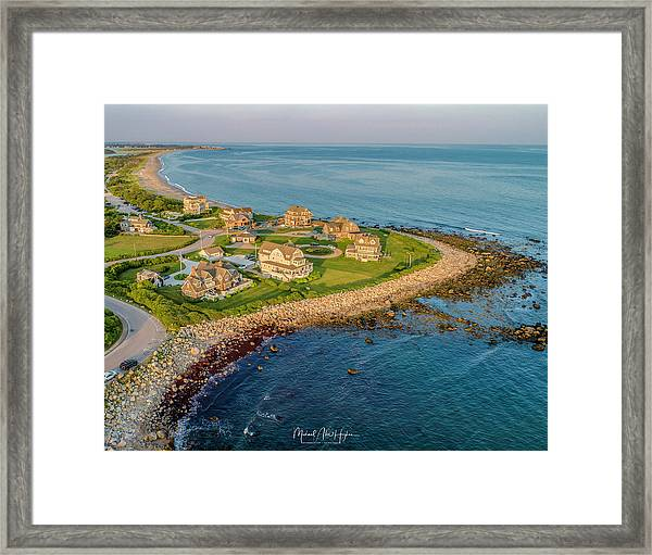 The Point At Weekapaug Framed Print