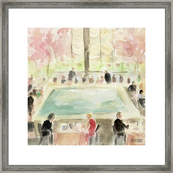 The Pool Room At The Four Seasons New York Framed Print