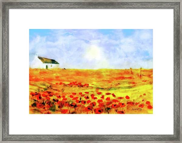 The Poppy Picker Framed Print
