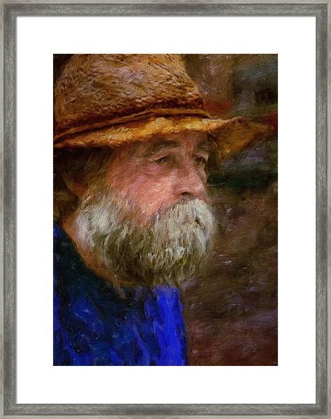 The Portrait Of A Man Framed Print