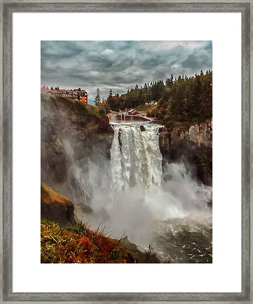 Framed Print featuring the photograph The Powerful Snoqualmie Falls by Kevin McClish