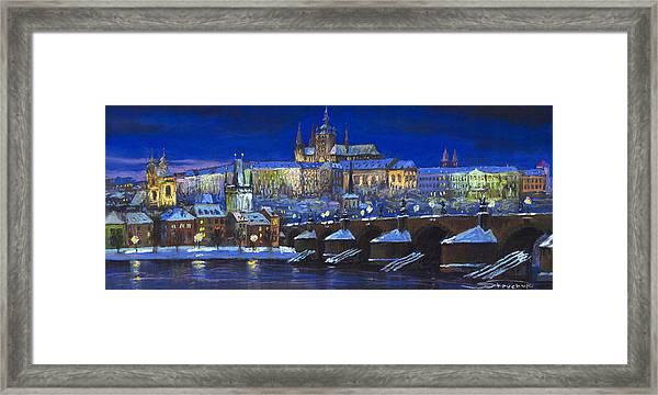 The Prague Panorama Framed Print