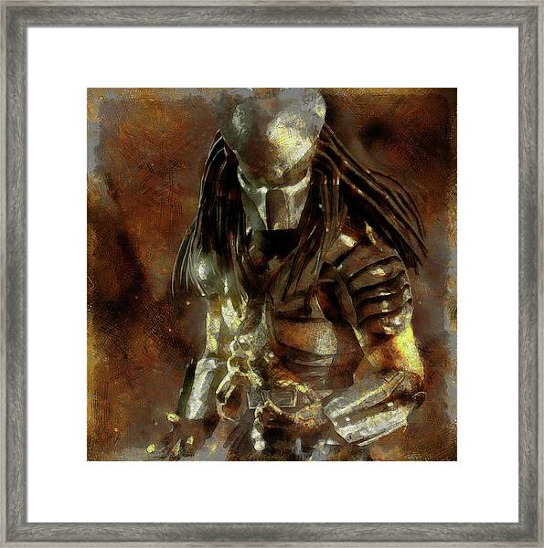 The Predator Scroll Framed Print