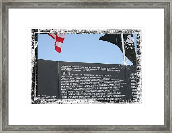 The Price Of Freedom Framed Print
