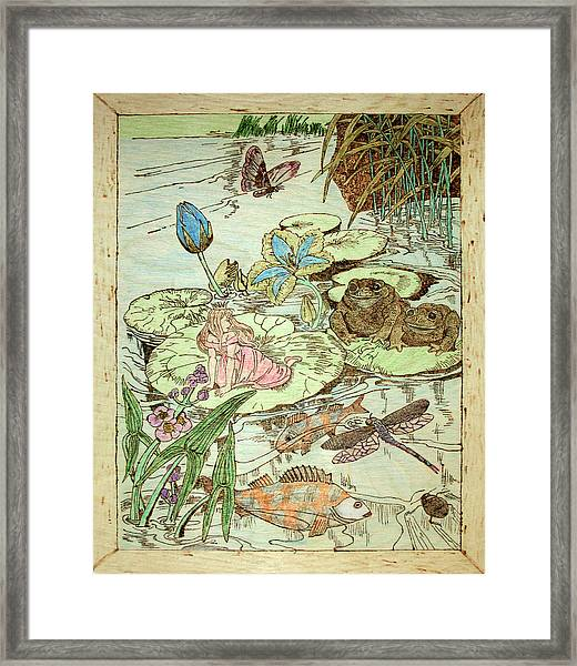 The Princess And The Frogs Framed Print