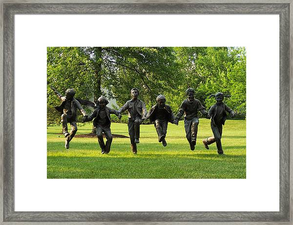 The Puddle Jumpers At Byers Choice Framed Print