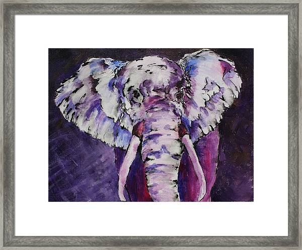 The Purple Bull Framed Print
