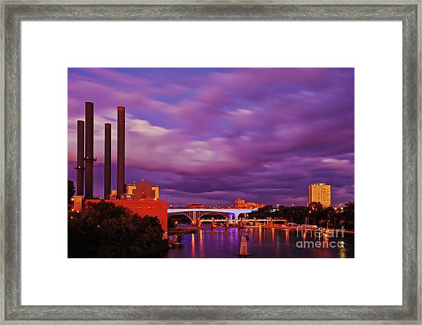Framed Print featuring the photograph The Purple People Eaters Of Minneapolis, Minnesota by Sam Antonio Photography