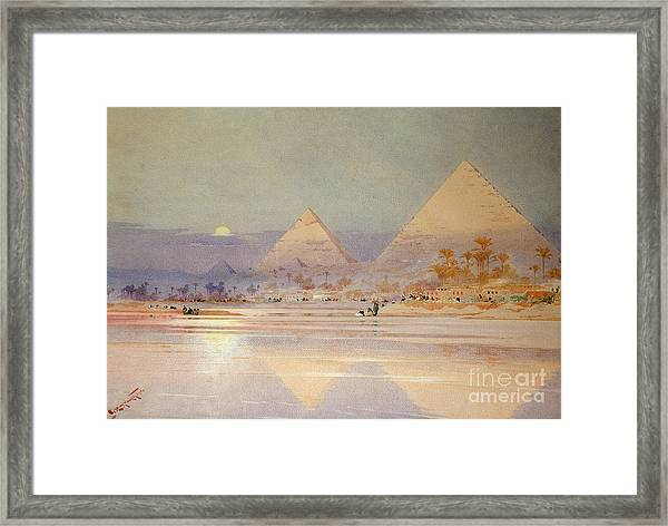 The Pyramids At Dusk Framed Print