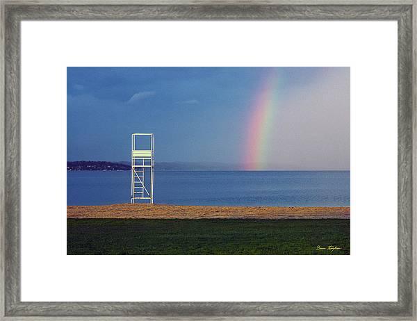 The Quiet Season - Lake Geneva Wisconsin Framed Print