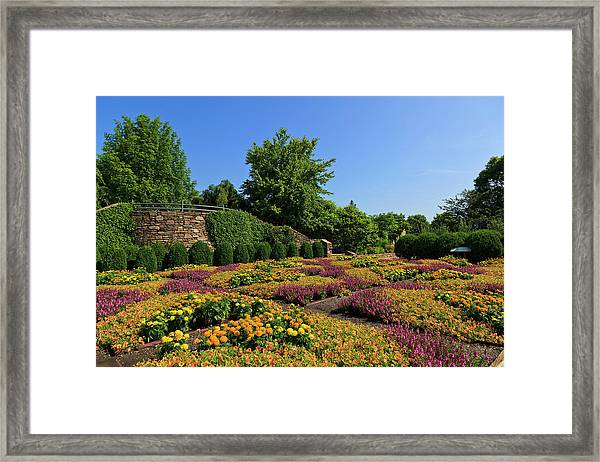 The Quilt Garden Framed Print