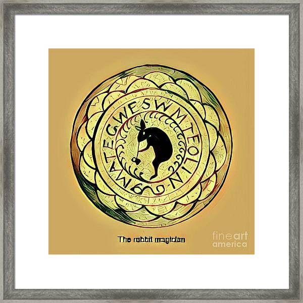 The Rabbit Magician Framed Print