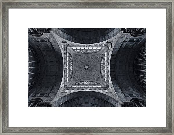 The Railroad Cathedral Framed Print