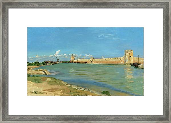 The Ramparts At Aigues Mortes Framed Print