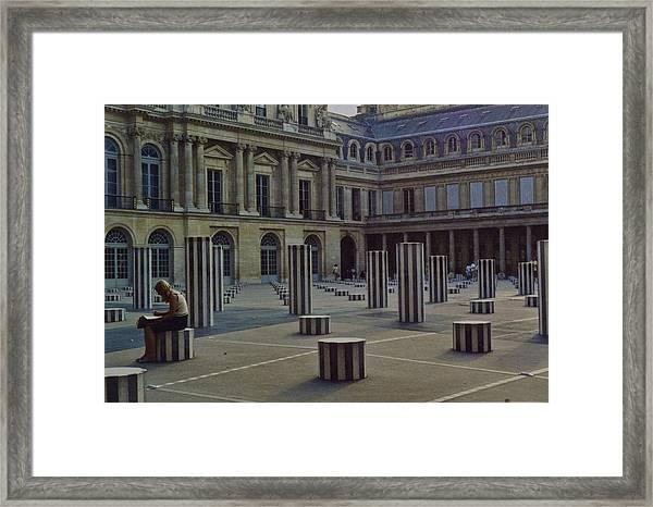 The Reader In Paris Framed Print