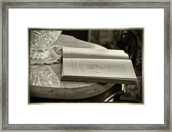 The Reading Table Framed Print