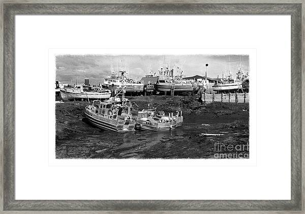 The Real Alaska - Caught At Low Tide Framed Print