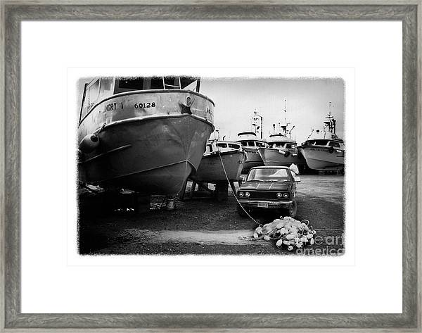 The Real Alaska - Dry Dock 1 Framed Print