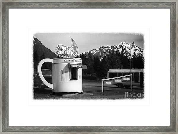The Real Alaska - Espresso Framed Print