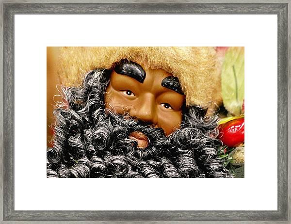 The Real Black Santa Framed Print