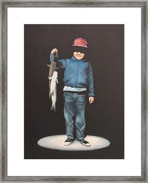 The Red Cap Framed Print