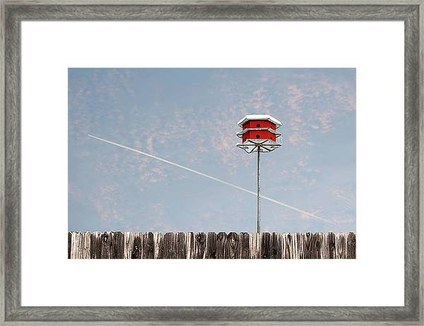Framed Print featuring the photograph The Red House by Scott Cordell