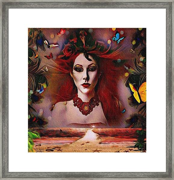 The Red Lady Shore Framed Print