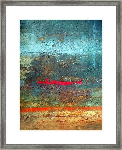 The Red Line Framed Print