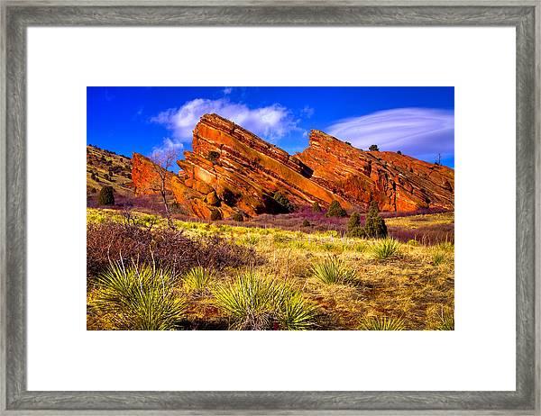 The Red Rock Park Vi Framed Print