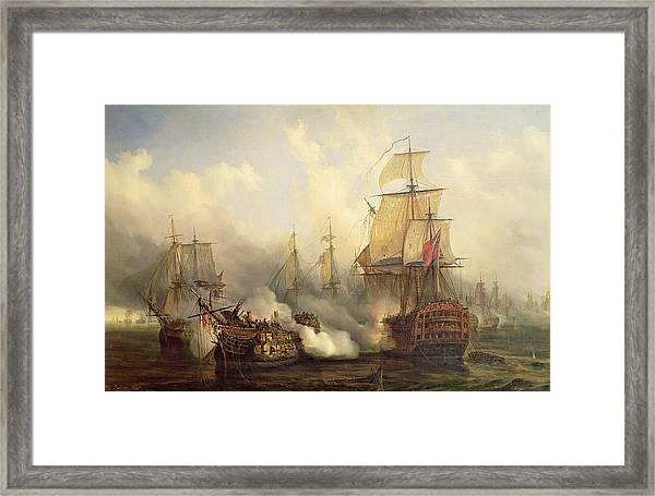 Unknown Title Sea Battle Framed Print