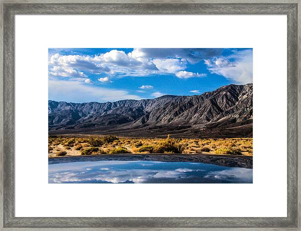 The Reflection On The Roof Framed Print
