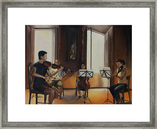The Rehearsal Framed Print by Leah Wiedemer